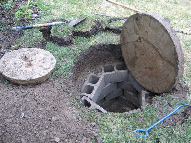 Water pooling from septic fields